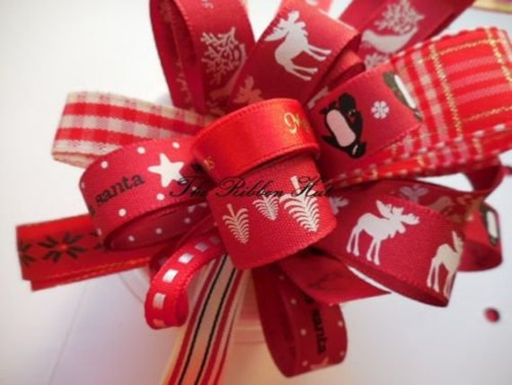 Bows,Wreaths,Crafts,Trim,Cards 1Mtr Christmas Tree Wired Red and Gold Ribbon