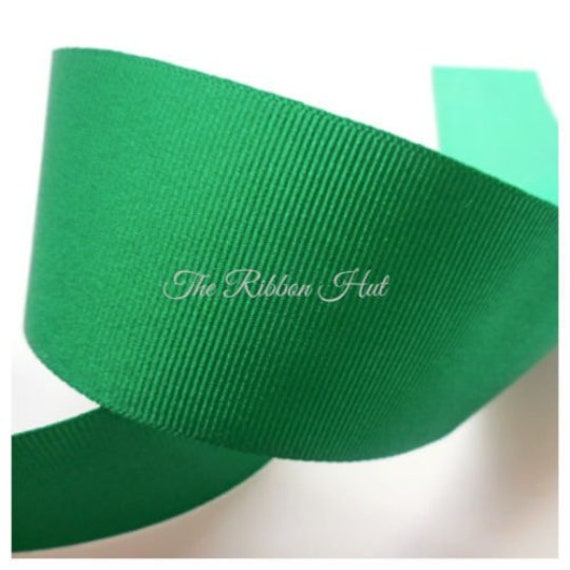 various widths 3m of Berisfords LIME GREEN shade no 6 double face satin ribbon