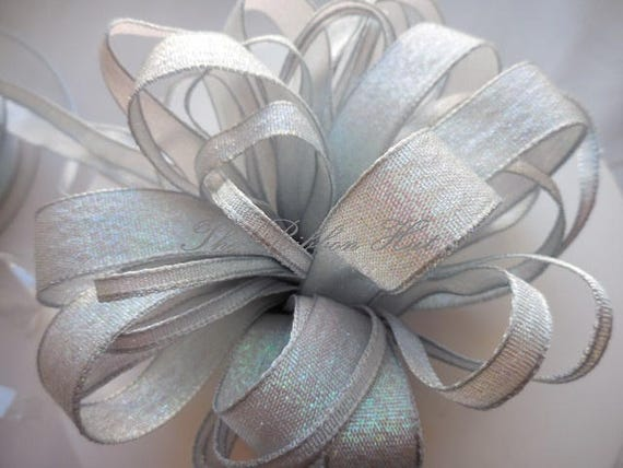 Wedding Bridal Craft Pink White 15mm Iridescent Dazzle Metallic Ribbon Pastel