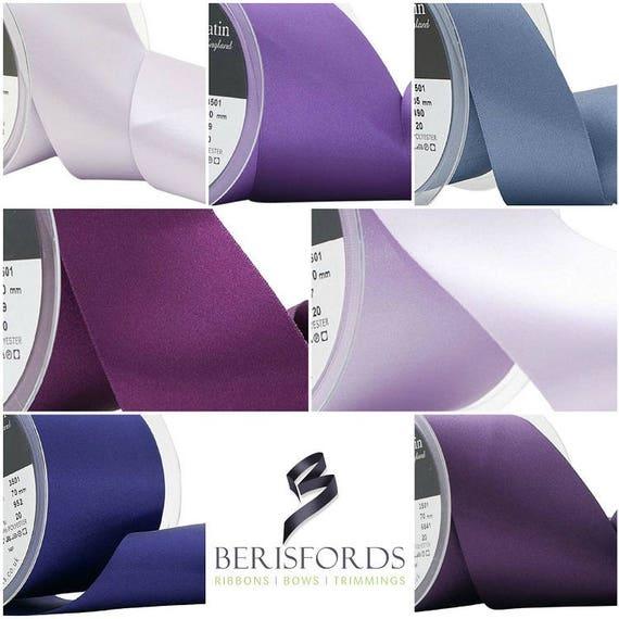 3m Berisfords Yellow Double Sided Satin Ribbon 3501 25mm Wide Art