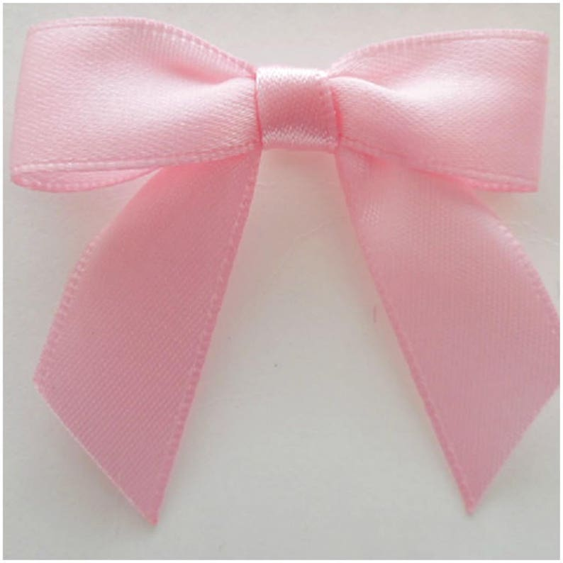 Baby Pink Satin Ribbon Bow 10 mm and 15 mm Ribbon 3 mm Arts and Crafts /& Decorations and Celebrations 10 pk and 100 pk 7 mm