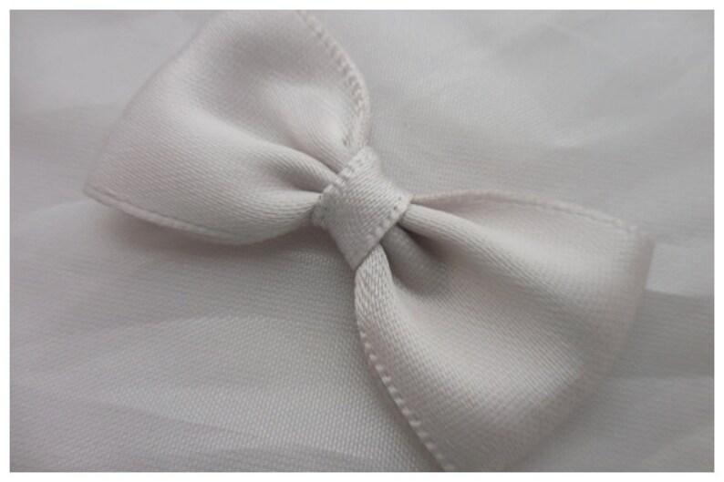 6dc07bdb0f84 Mini Satin Ribbon Bow Ties Silver Grey 4.5 cm 1 3/4 | Etsy