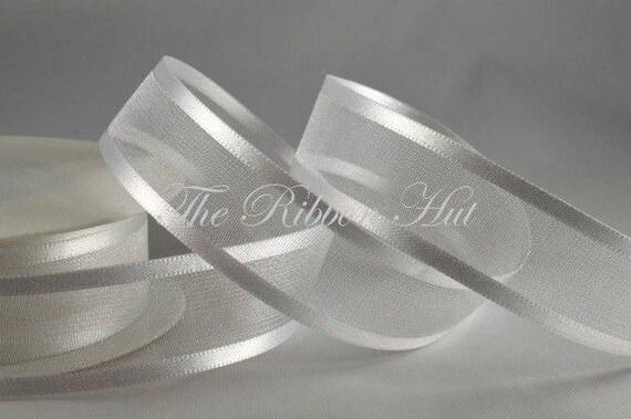 1 Roll of 5 Meters Woven Edge Organza Sheer Chiffon Ribbon Wedding Craft Decor