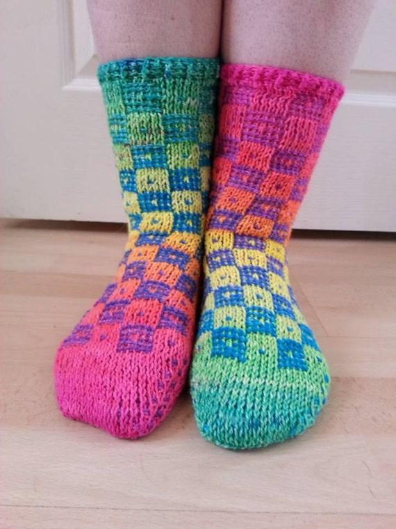 Nur eine Illusion tunesischen Häkeln Socke Muster | Etsy
