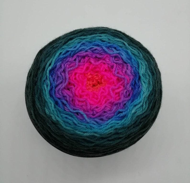 Disco Inferno Gradient 7525 Superwash Merino  Nylon sock yarn