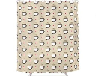 Coffee Shower Curtain - Icon Prints: Drinks Series