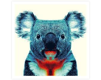Koala Art Print - Colorful Animals