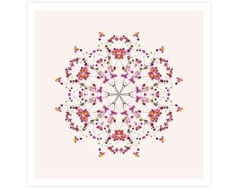 Floral Art Print - Mandalas