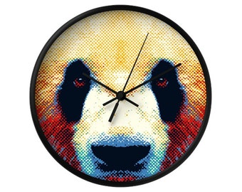 Panda Wall Clock - Colorful Animals