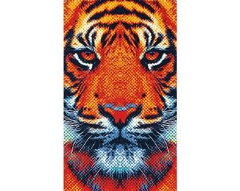 Tiger Rug - Colorful Animals