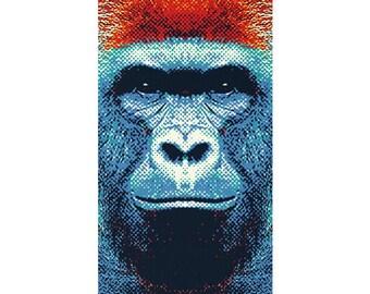 Gorilla Rug - Colorful Animals