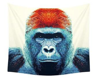 Gorilla Tapestry - Colorful Animals