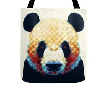 Panda Tote Bag - Colorful Animals