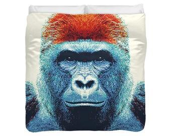 Gorilla Duvet Cover / Comforter - Colorful Animals