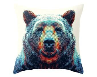 Bear Pillow - Colorful Animals