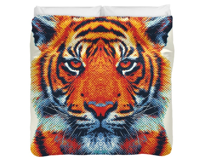 Tiger Duvet Cover / Comforter - Colorful Animals