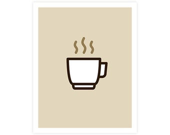 Coffee Art Print - Icon Prints: Drinks Series