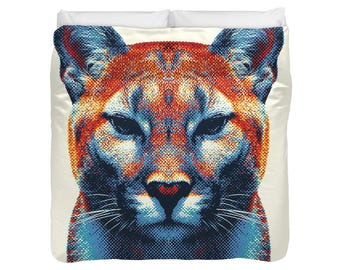 Puma Duvet Cover / Comforter - Colorful Animals