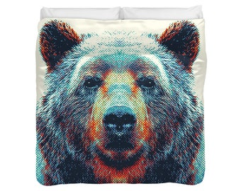 Bear Duvet Cover / Comforter - Colorful Animals
