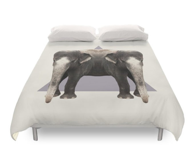 Elephants Duvet Cover - Double Animals