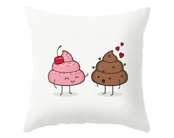Love Sucks Pillow - Cute Doodles