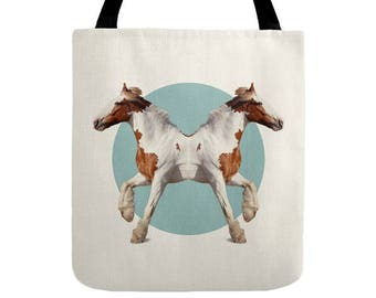 Horses Tote Bag - Double Animals