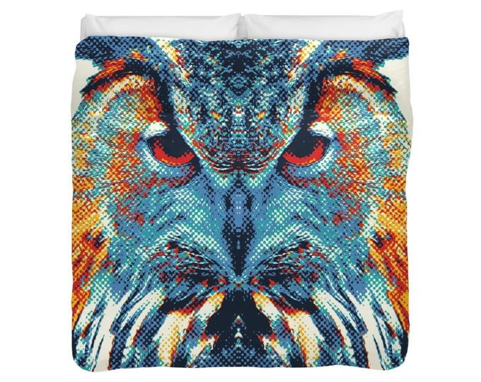 Wolf Duvet Cover / Comforter - Colorful Animals
