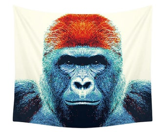 Gorilla Tapestry - Colorful Animals