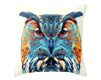 Owl Pillow - Colorful Animals