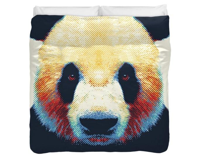 Panda Duvet Cover / Comforter - Colorful Animals