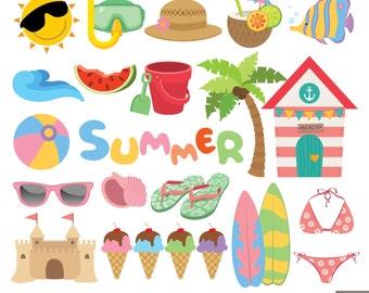 Picnic Clipart, Summer Picnic Food Clipart, Gingham Bunting Banners, Hamburger + Hot ...