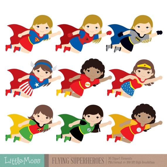 Superhero Art For Little Boys: Flying Superhero Clipart Superheroes Kids Clipart