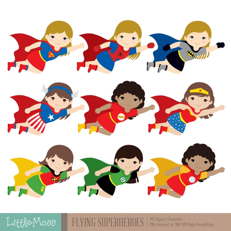 Flying Superhero Clipart Superheroes Kids Clipart Superheroes Clipart Super Hero Clipart Superhero Girl