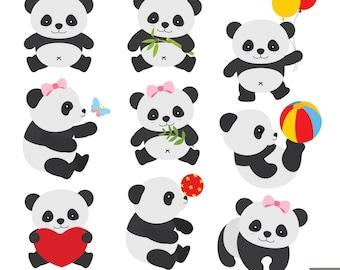 Little Panda Clipart