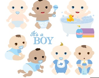 Baby Boys Digital Clipart