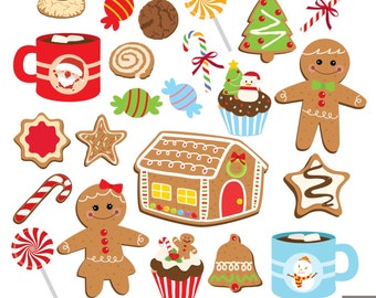 Christmas Cookies Digital Clipart