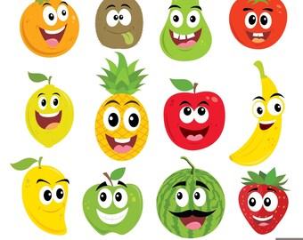 Little Fruits Digital Clipart