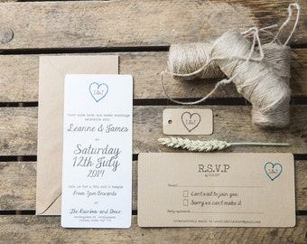 Rustic Wedding Invite and RSVP