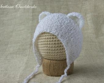 Knit Bear Hat Etsy