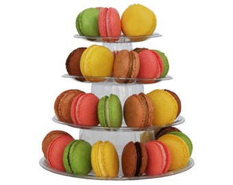 2 sets of 4 Tier Macaron Tower Display Stand for French Macarons