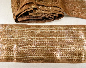 Vintage gold woven ribbon - Wide woven ribbon - Vintage gold lace - 10.52 meters - 11.5 yards