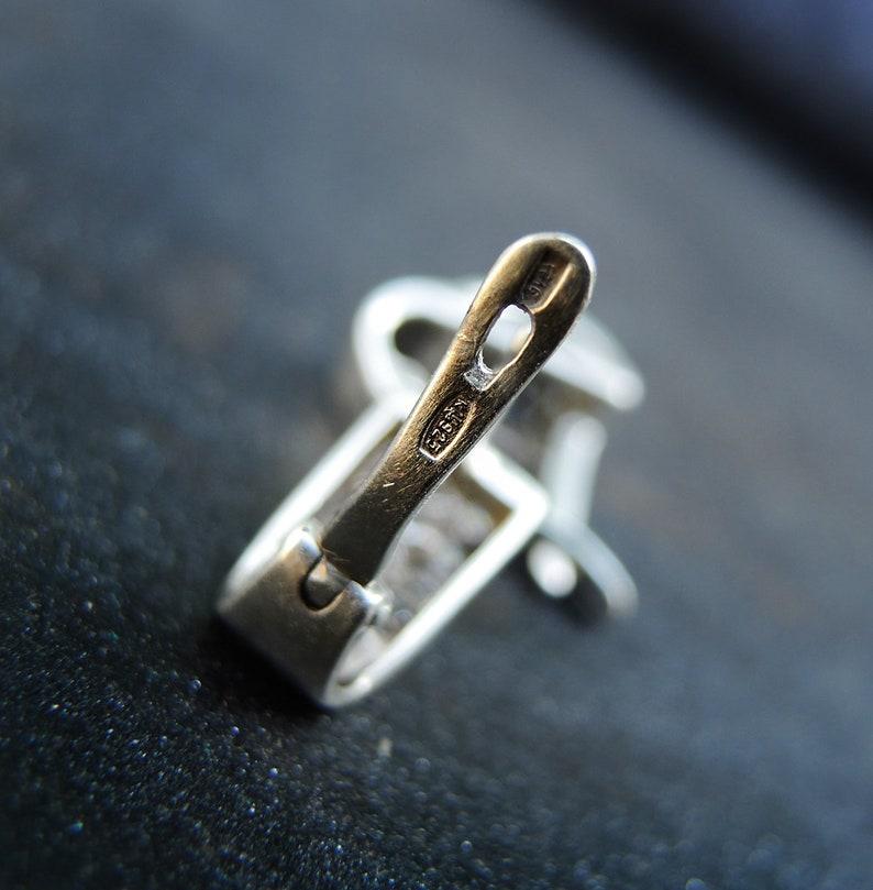 Multi stone earrings Delicate birthstone sterling silver earrings Hexagon jewelry on every day