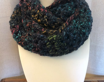 Chunky Multicolor Infinity Scarf