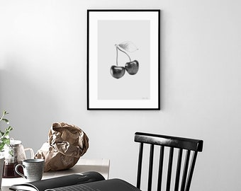 """Illustration """"Cherry"""" Poster format A4"""