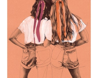 "Illustration ""Sister"" Poster format A4"