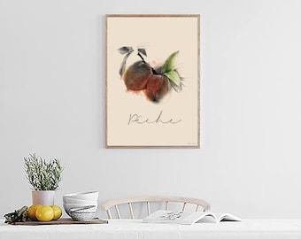 "Illustration ""Fish"" Poster format A4"