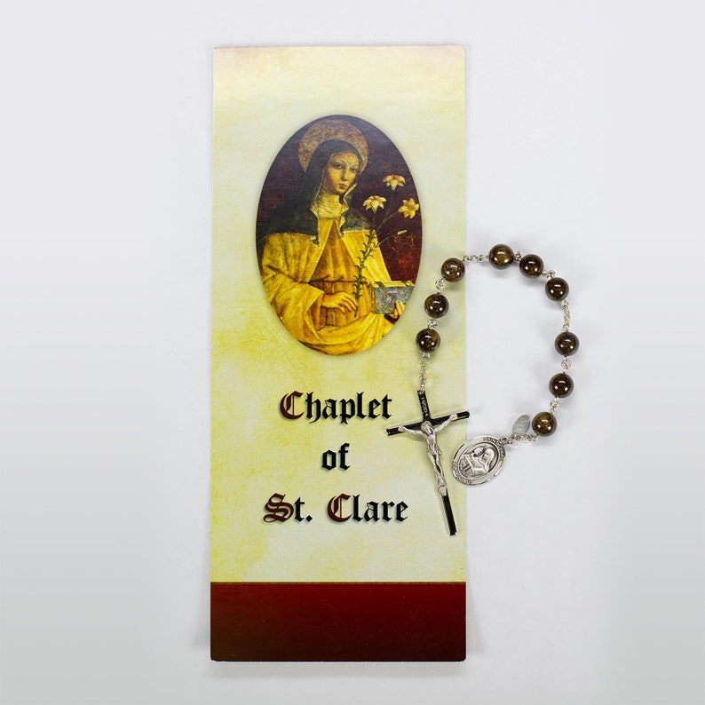 St Clare of Assisi Chaplet Rosary  Handmade Gift for image 0