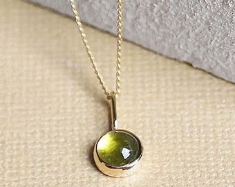 Peridot Necklace, Gold Necklace, Peridot Pendant, Birthstone Jewelry, Gold Peridot Necklace, Gold Pendant, 9ct Gold, Gemstone Necklace