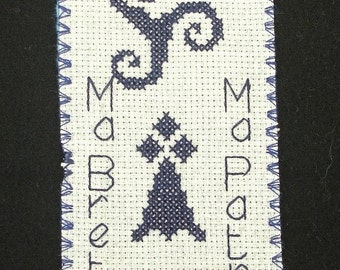 Bookmarks Ma Brittany breton hand embroidered text