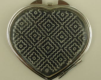 Mirror bag or Pocket heart Sashiko Japan